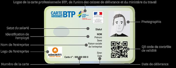 carte identification professionnelle btp