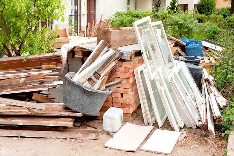 dépôts sauvages déchets bâtiment