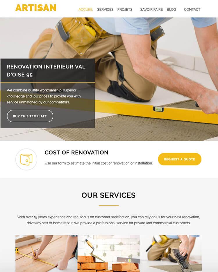 site internet artisan wordpress