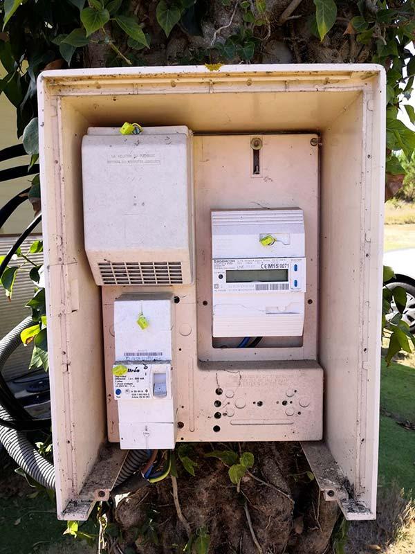 prix compteur électrique provisoire