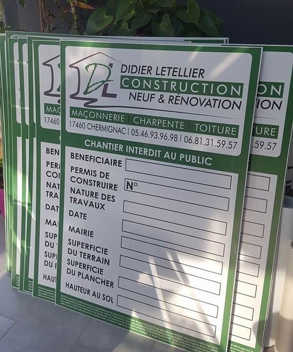 panneau affichage permis construire gratuit
